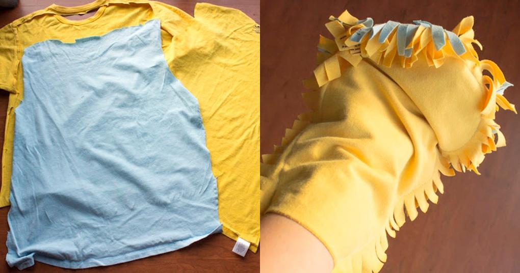 Переделайте старую футболку в полезную для дома вещь