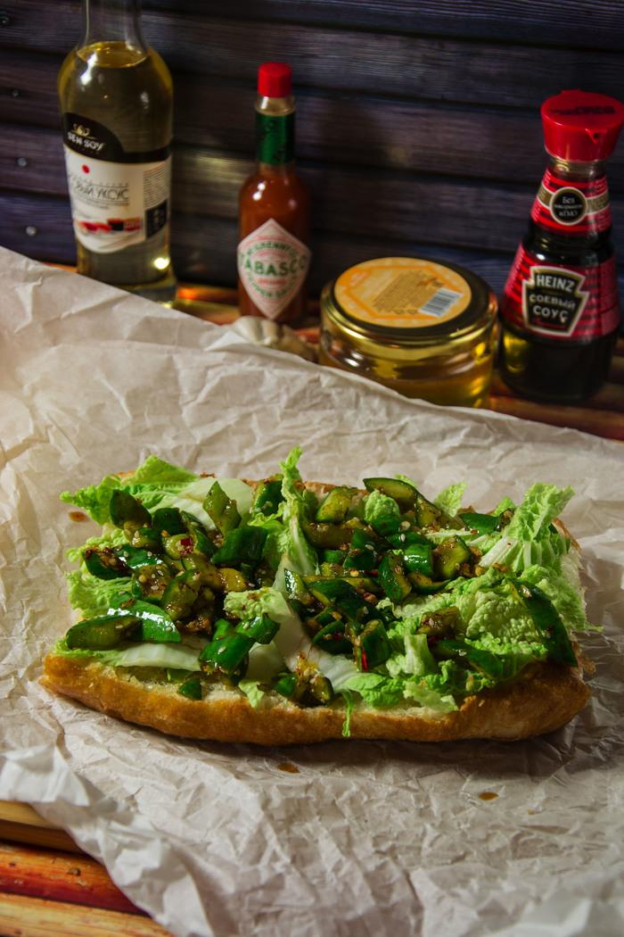 Сэндвич в китайском стиле Еда, Рецепт, Сэндвич, Мясо, Свинина, Китай, Китайская кухня, Dinoburger, Длиннопост