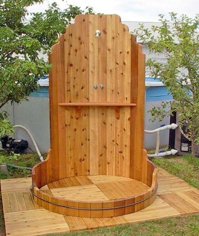 Идеи для обустройства летнего душа на даче