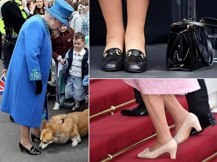 В выборе обуви королева Елизавета II не любит экспериментов