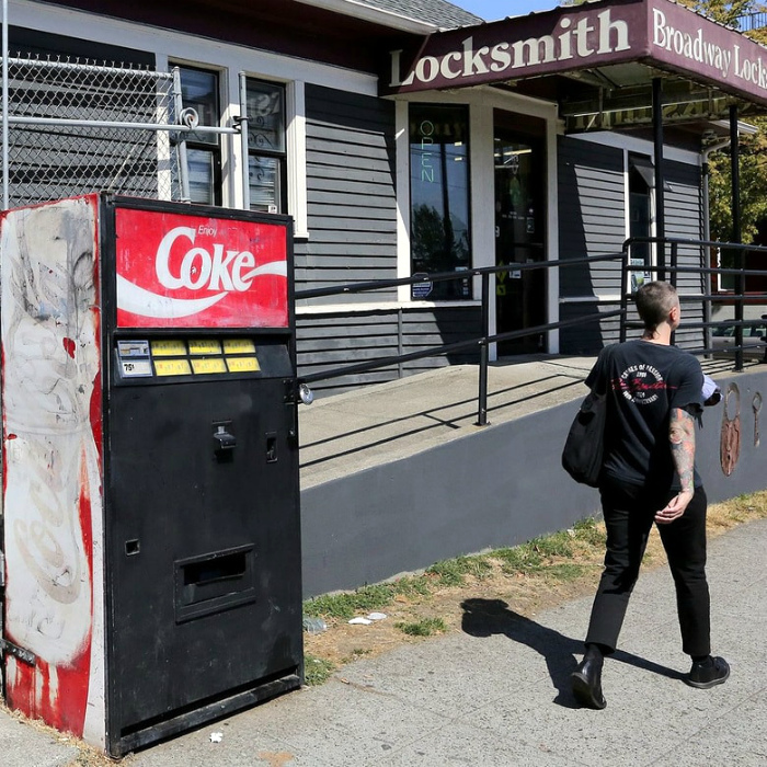 Таинственный автомат с газировкой, Сиэтл.