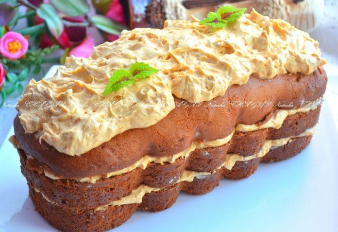 Обалденный бисквитный торт «Забава» на кефире с масляным кремом