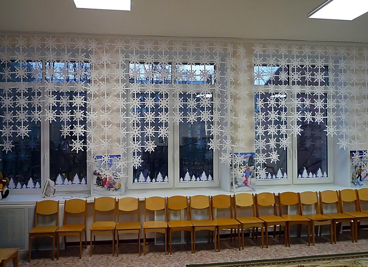 Снежинки шторы своими руками