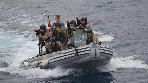 Турецкий спецназ осуществлял подготовку азербайджанских морпехов