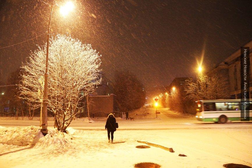 Первый снег усыпал Красноярск в ночь на 26 сентября