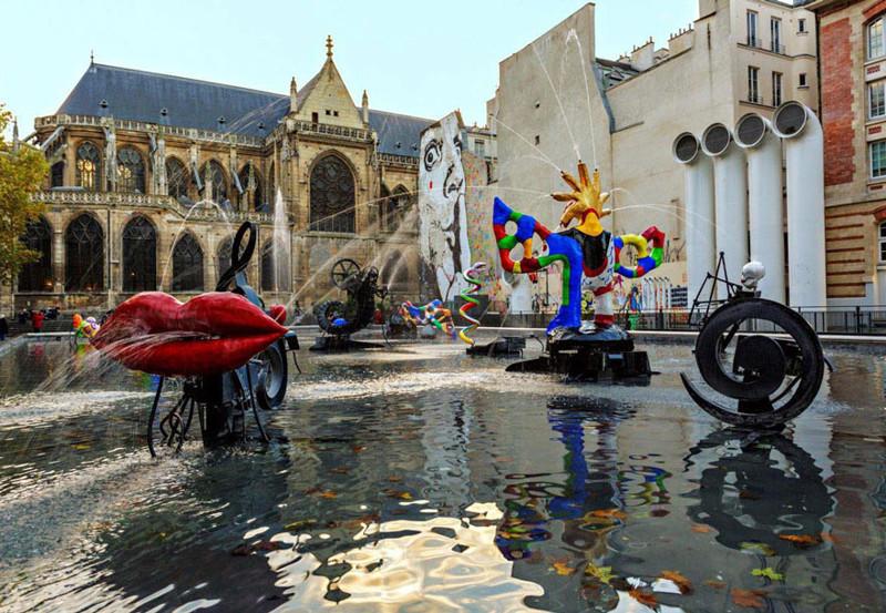 Фонтан Стравинского, Париж, Франция город, достопримечательность, интересное, мир, подборка, страна, фонтан, фото