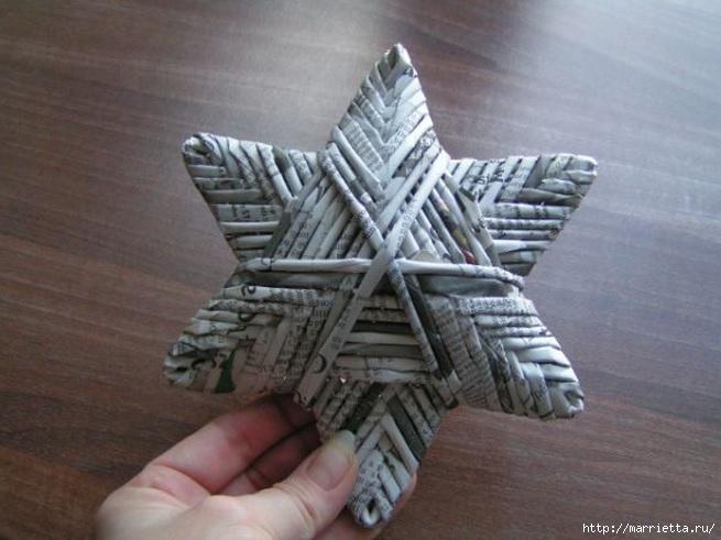 звезды из газетных трубочек (11) (655x491, 166Kb)