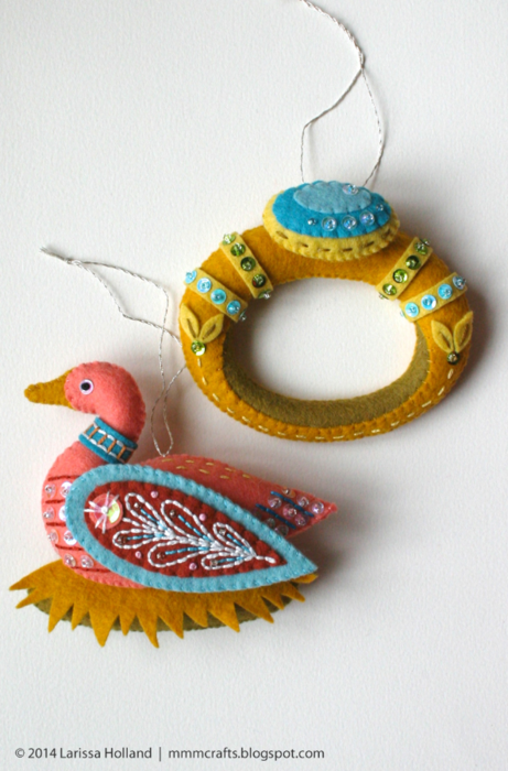 Райские птицы из фетра. Идеи (3) (461x700, 520Kb)