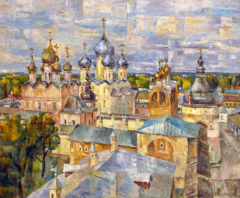 художник  Колоколов Антон,  Храмы Ростова-Великова