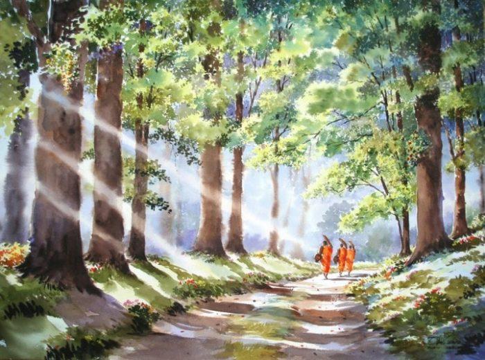 Признание в любви к родине — акварели тайского художника Thanakorn Chaijinda