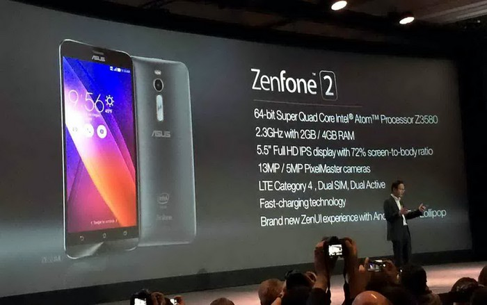 ASUS ZenFone 2 - смартфон с 4 гигабайтами оперативной памяти