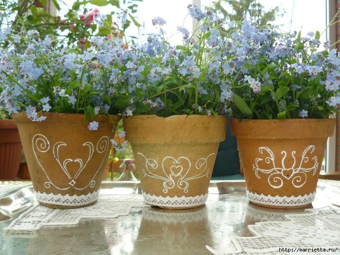 Варианты декорирования цветочных горшков (22) (700x525, 355Kb)