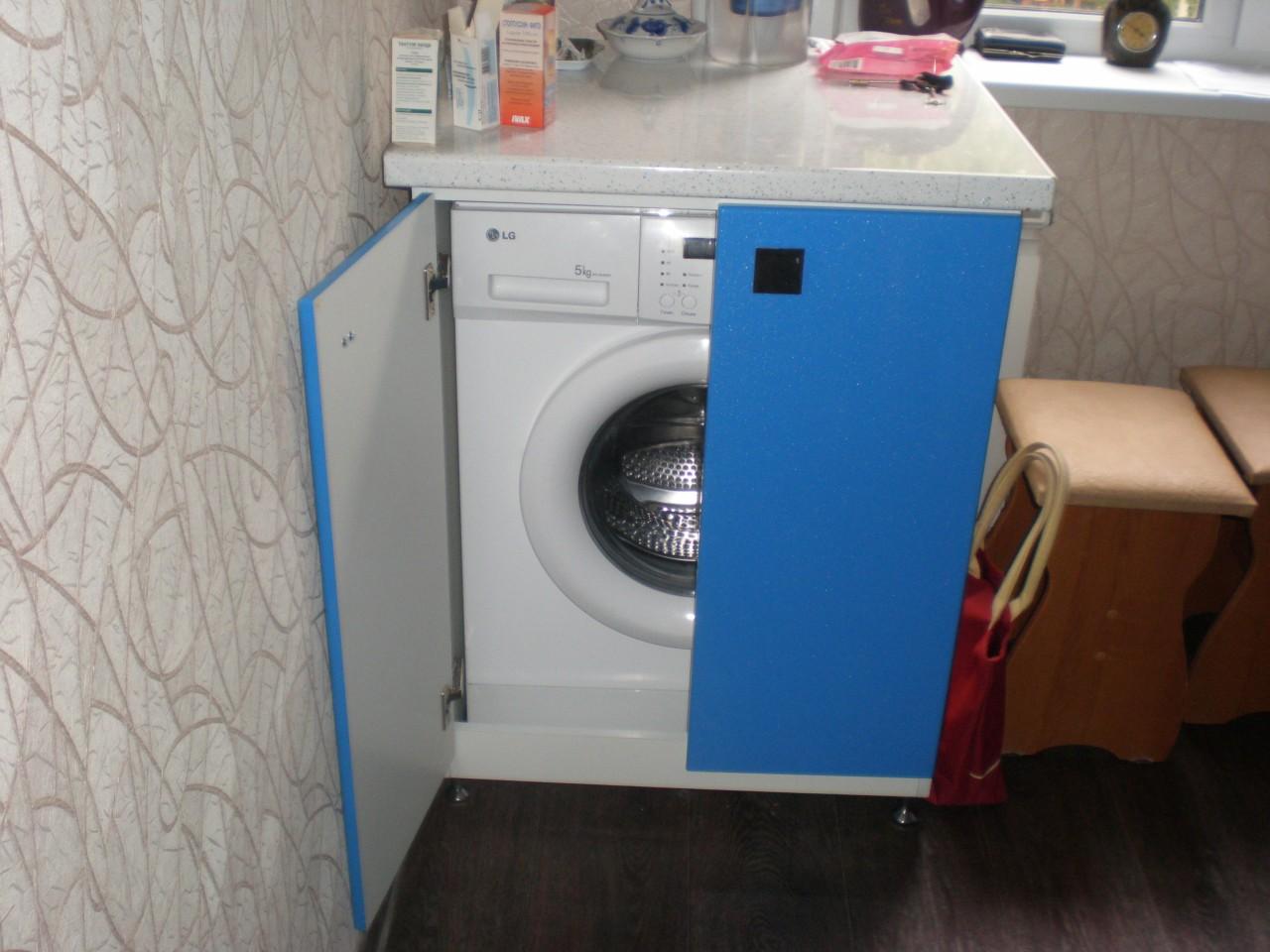 Шкаф под стиральную машинку своими руками 5