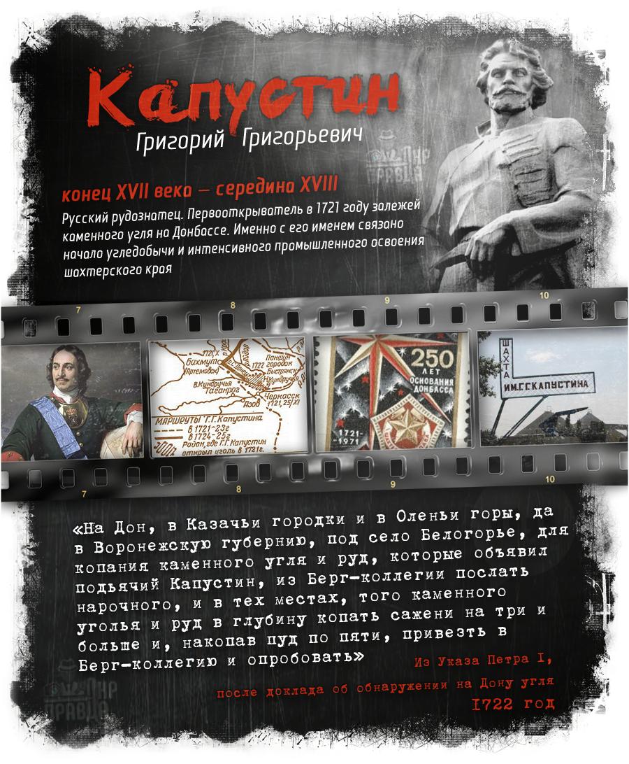 «Первооткрыватель угля на Донбассе»: Григорий Григорьевич Капустин