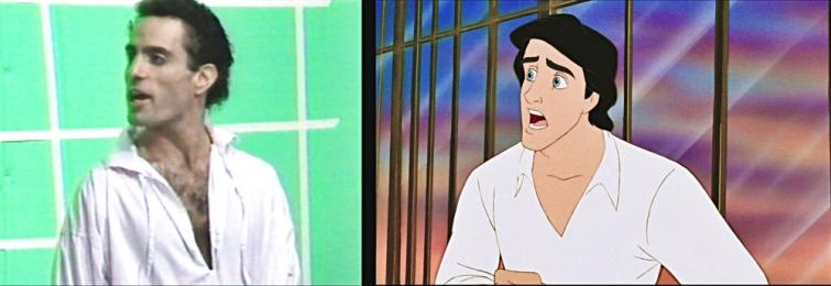 """Эмоции и движения реальных актеров, с которых рисовались Ариэль и принц Эрик из диснеевской """"Русалочки"""""""