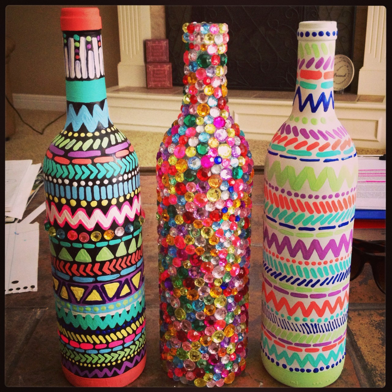 Яркий декор бутылок