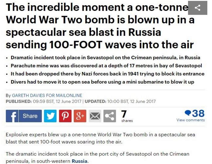 Daily Mail публично признала Крым российским