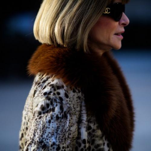 меховой жакет на даме элегантного возраста - улица парижа