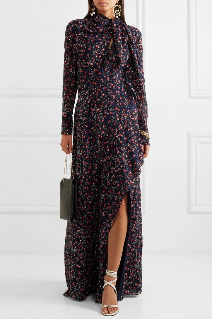 Платья с цветочным принтом — наш ответ серым осенним будням