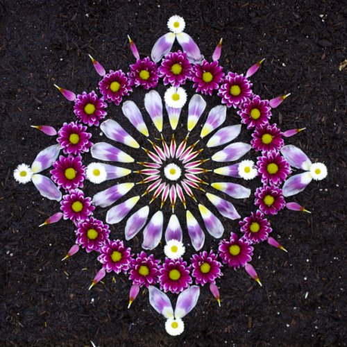 Цветочные мандалы Кэти Клейн (18 фото)