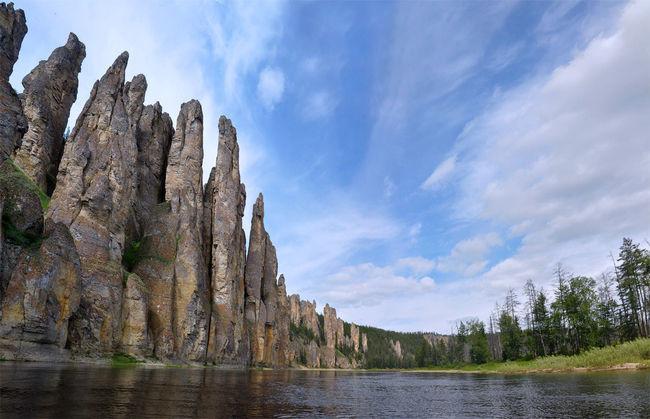 8. Ленские столбы, река Лена, республика Якутия путешествия, россия, топ, топ-10, факты