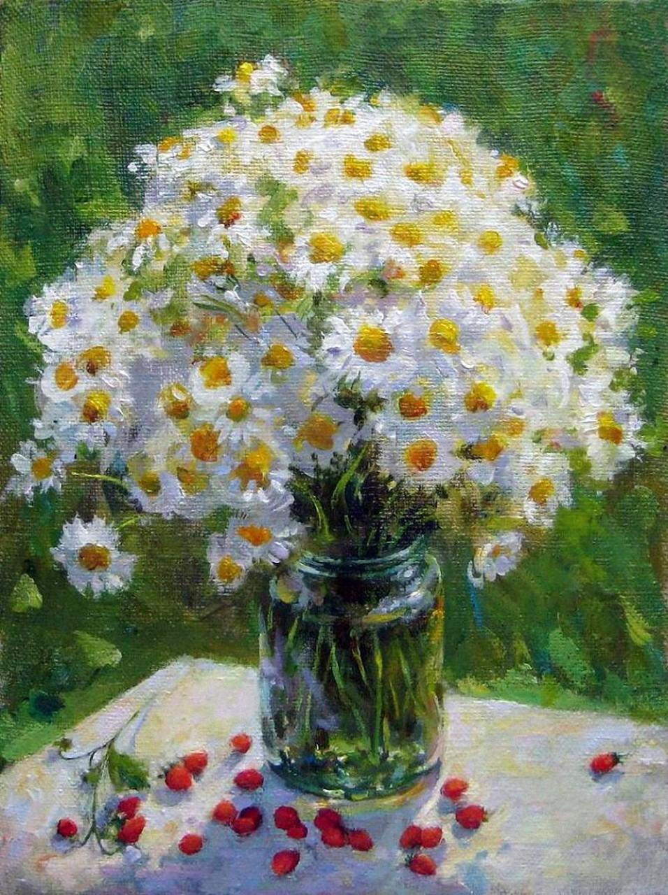 Целый мир из цветов полевых в душевных работах Екатерины Калиновской