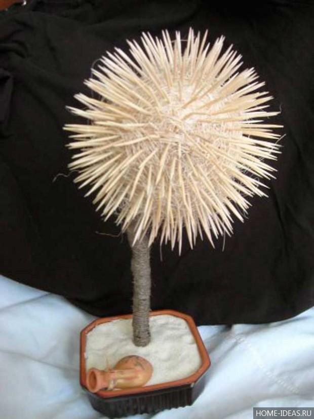 Топиарий из атласных лент: мастер-класс с пошаговыми фото