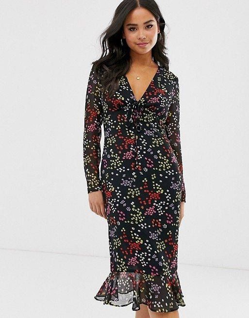 Платья с цветочным принтом - наш ответ серым осенним будням фото №14