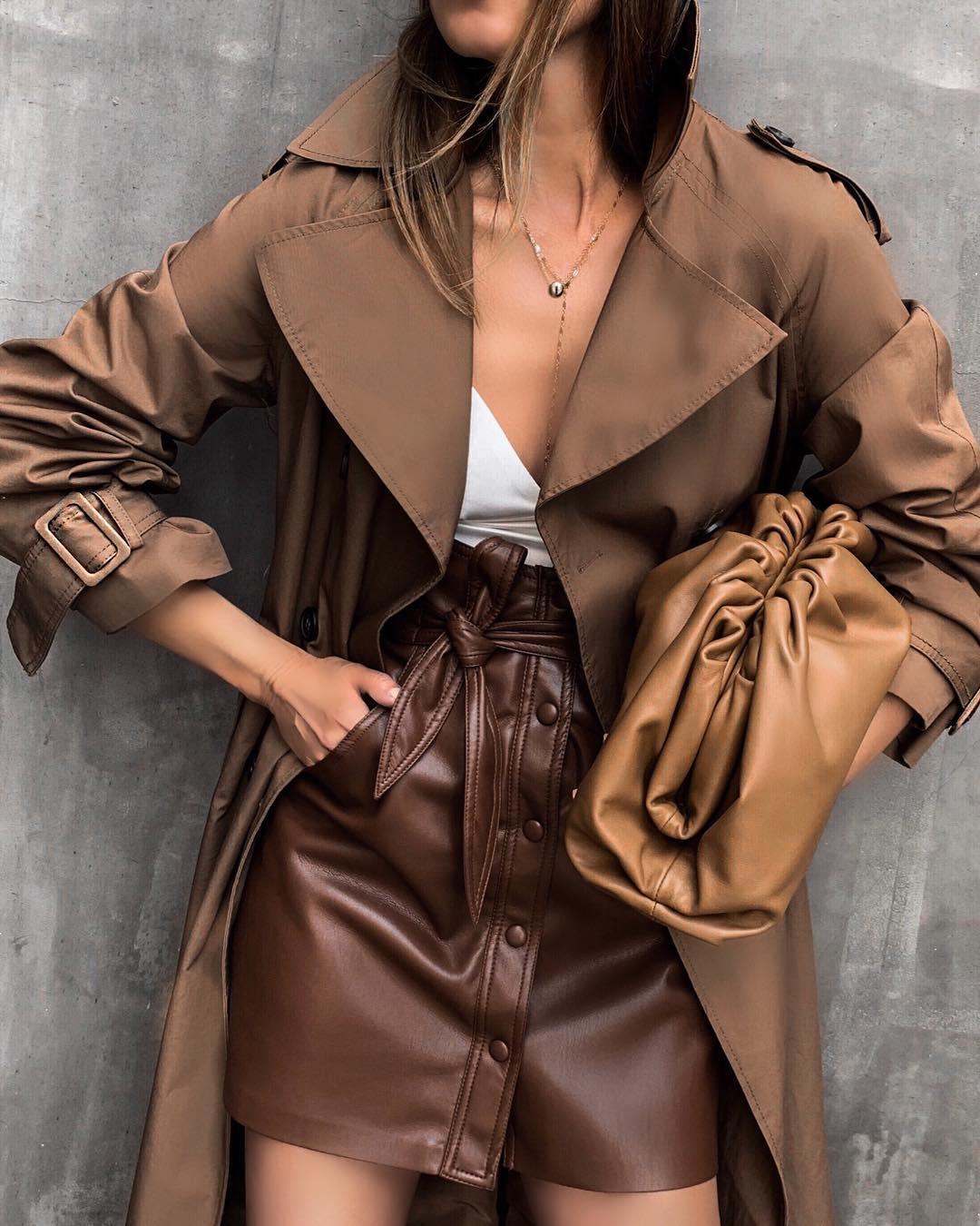 модные осенние образы в коричневом цвете фото 5