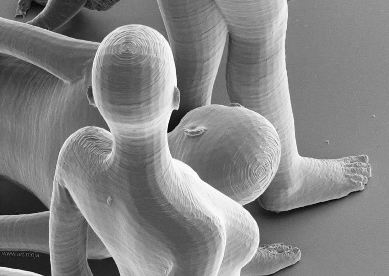 Нано-скульптуры Джонти Гурвица. Самые микроскопические фигуры людей в мире-5