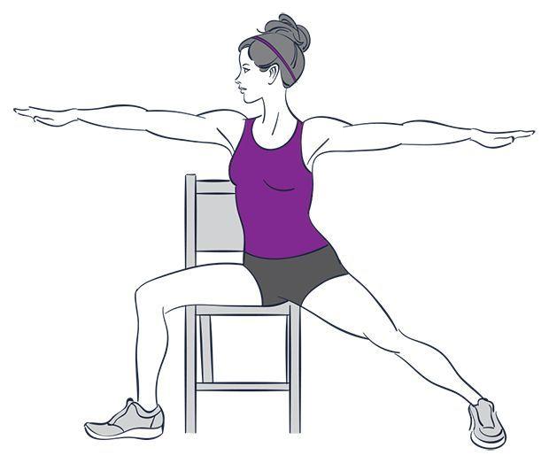 9 упражнений на все группы мышц, которые можно делать не вставая со стула