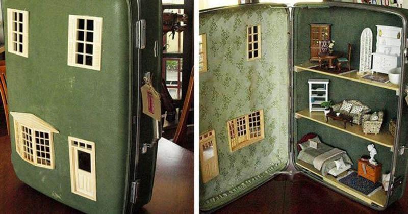 Преображение старого чемодана оригинальными способами