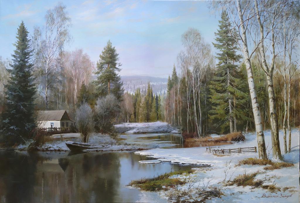 Художник Зайцев :  Пейзажи настоящей России