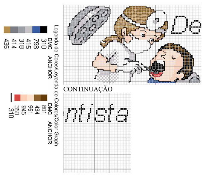 Медицинская тематика схема вышивки