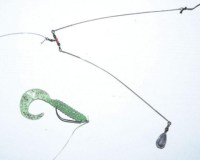 судак в многоотводный  поводок держи течении