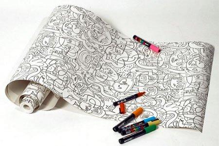 Креативные обои-раскраски от Джона Бургермана