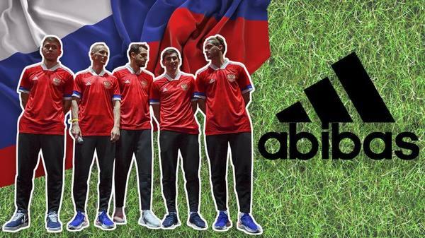 Флаг на форме сборной России…