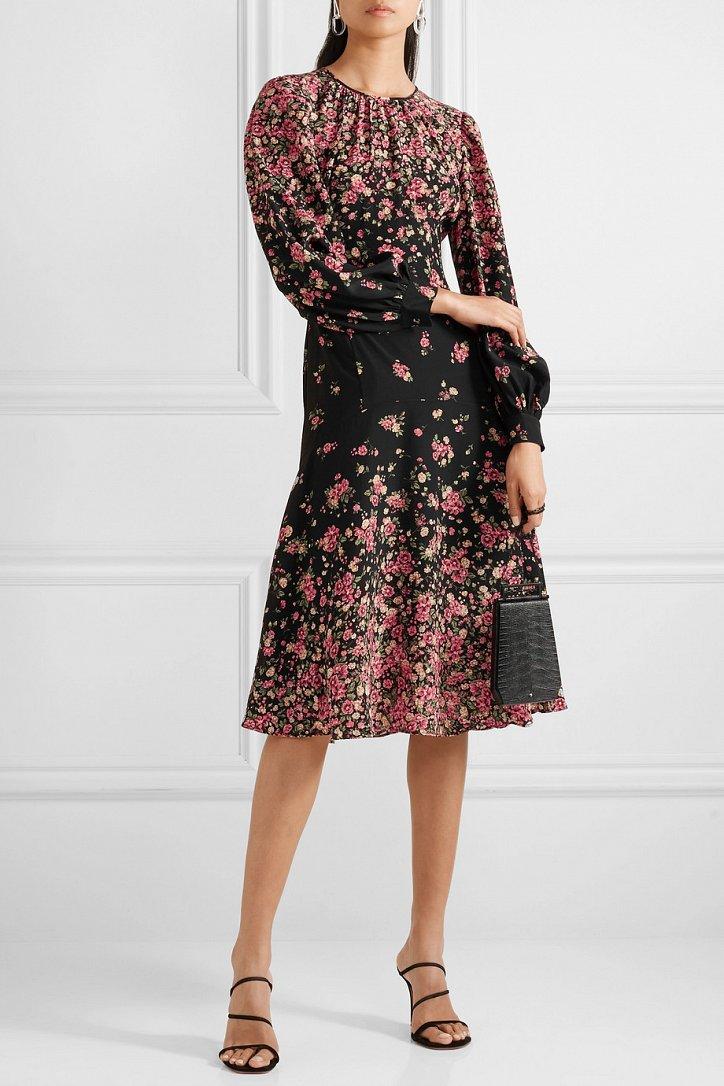 Платья с цветочным принтом - наш ответ серым осенним будням фото №6