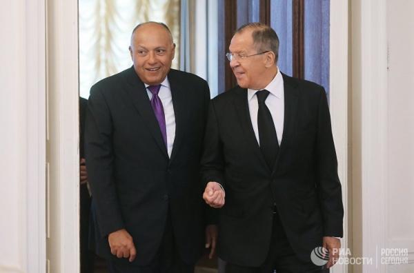 Лавров: Россия иЕгипет преследуют общие цели наБлижнем Востоке