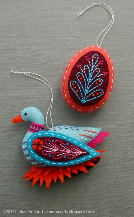 Райские птицы из фетра. Идеи (15) (433x700, 591Kb)