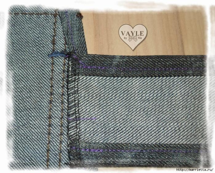 Как сшить жилет из старых джинсов (23) (700x562, 423Kb)
