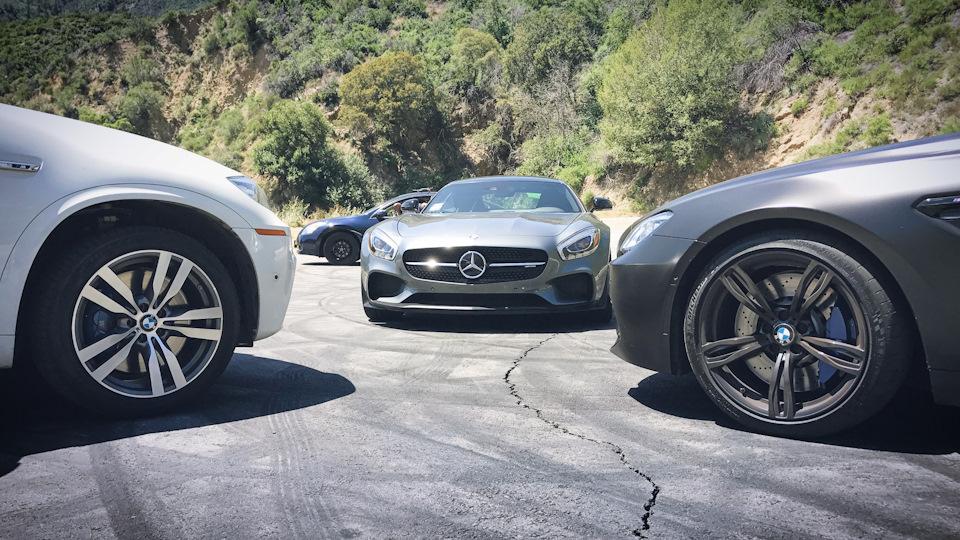 AMG GT против X5M E70 и M6 Convertible, сдал M3 в сервис, влог с улиц Лос-Анджелеса