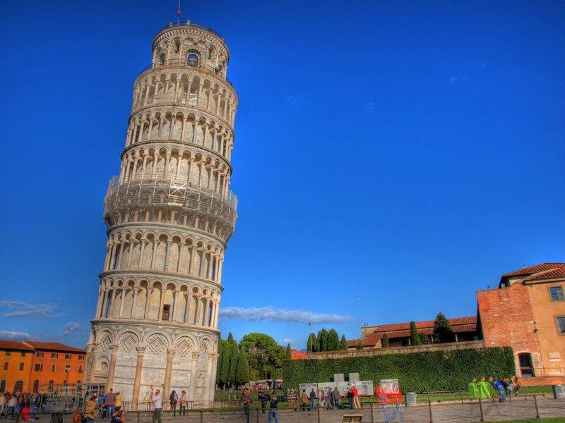 Угол «падения» знаменитой башни в Пизе (Италия) сократился. достопримечательности, интересное, фотографии