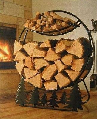Оригинальные подставки для дров