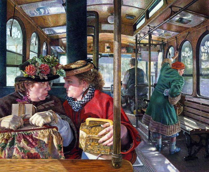 Две дамы в одесском трамвае …