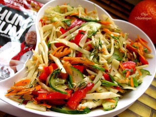 Салат из капусты с корейской приправой
