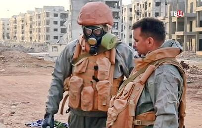 Саперы разминируют освобожденные от террористов районы Алеппо
