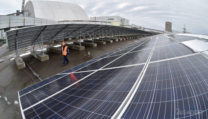 В Чернобыльской зоне построена первая солнечная электростанция