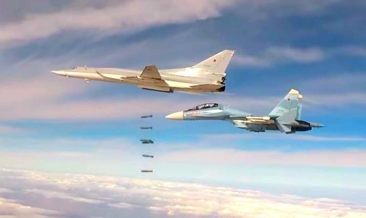 Ту-22М3 сбросили 500-кг бомб…