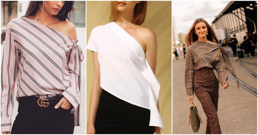 Модная асимметрия: стильные идеи для блузок и платьев